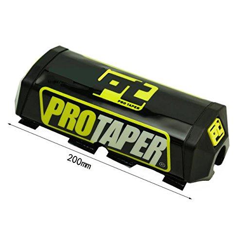 Templehorse White Blue Pro Taper Handlebar Pad and Keepitroostin Sticker Fits Yamaha Yz125 Yz250 Yz250f Yz450 2006-2014 Black