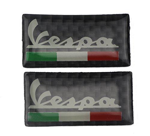 PRO-KODASKIN Real Carbon Italy Handlebar Clamp Tank Sticker Emblem Decal for Vespa LX GTS Sprint Primavera