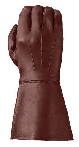 Tough Gloves Mens Ultra Enforcer Leather Gauntlets Size 9 Color Chestnut