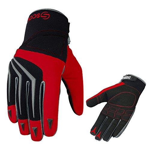 SPG Brand New Motocross Racing MX Gloves Off Road Dirt Bike Racer Riding Men Adult Gloves Medium7-75 Red