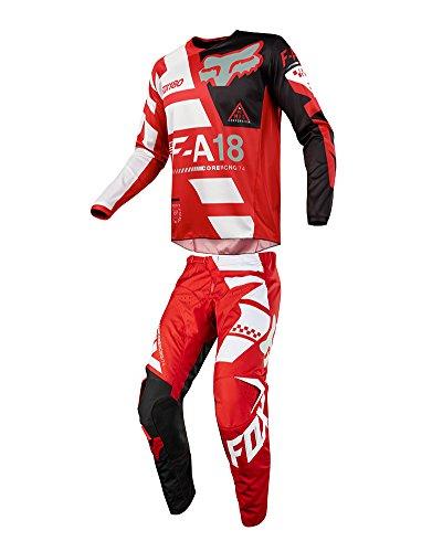 Fox Racing 2018 180 Sayak JerseyPants Adult Mens Combo Offroad MX Gear Motocross Riding Gear Red