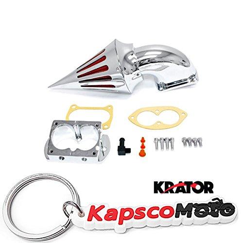 Krator 2002-2009 Kawasaki 15001600 Fuel Injected Vulcan Meanstreak Cruiser Chrome Billet Aluminum Cone Spike Air Cleaner Kit Intake Filter Motorcycle  KapscoMoto Keychain