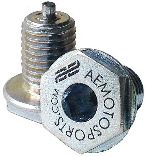 AE Motosports KLR 650 Kawasaki Low Profile Magnetic Drain Plug