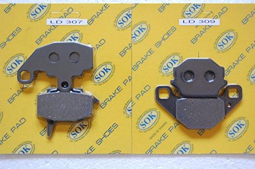 FRONT&REAR BRAKE PADS KAWASAKI KLR 650 1987-2007 KLR650 KL 650 KL650 LD307 LD309