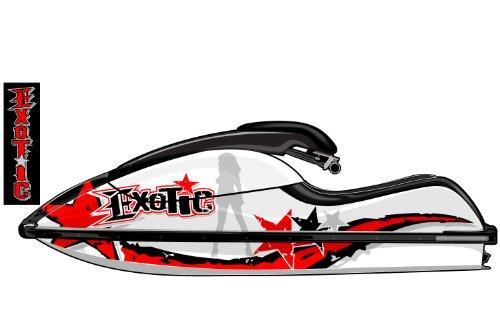 Exotic Signs Kawasaki 800 Rock Star Jet Ski Graphic Kit - EK0023K800