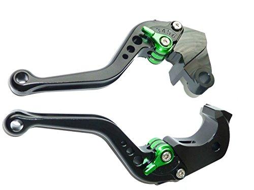 LUO CNC Short Brake Clutch Levers for Kawasaki Z750 2007-2012Z800E Version 2013-2016-Black