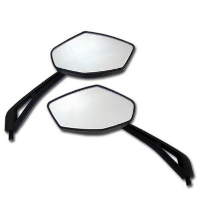 Black Diamond Motorcycle Mirrors for Kawasaki LTD 450LTD 700