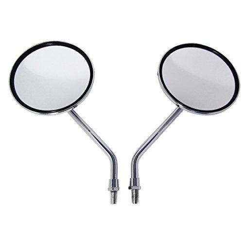 Chrome Billet Round Motorcycle Mirrors for Kawasaki LTD 400 LTD 440