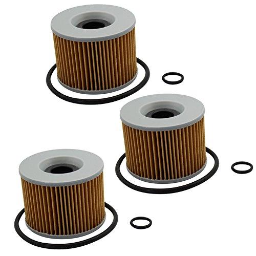 Cyleto Oil Filter for KAWASAKI LTD 440 Z440 1980-1985  Z500 1979-1981 Pack of 3