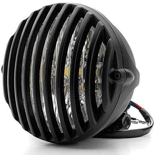Krator 5 Black Vintage Antique Style Grill Prison Chopper Motorcycle Bobber Headlight For Vespa LX S LXV 50 150