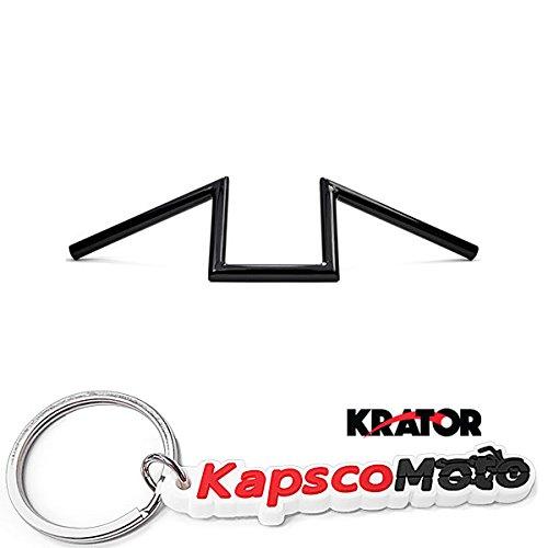 Krator Z Bars Replacement Handlebars Custom Bobber Harley Triumph Black 1 Inch Zee Zed  KapscoMoto Keychain