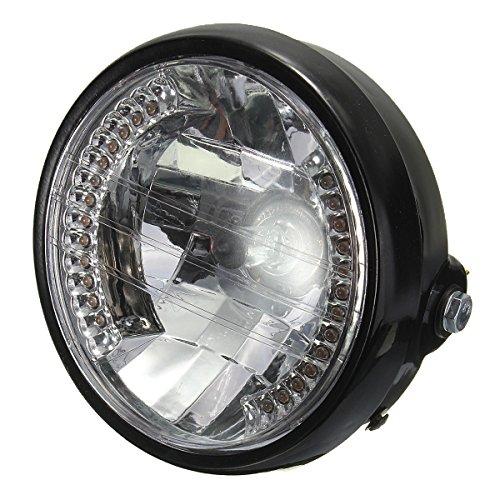 Headlight For HARLEY BOBBER - SODIALR 7 Inch Motorcycle Round Headlight Halogen H4 Bulb Head Lamp For HARLEY BOBBER