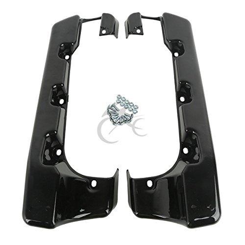 Tengchang 4Hard Stretched SaddleBag Extension For Harley Street Glide Road King 2014-2015