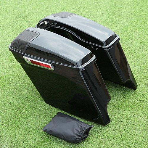 XFMT 5 Extended Stretched Saddlebags Speaker Grill For Harley Road King Glide 2014-2017