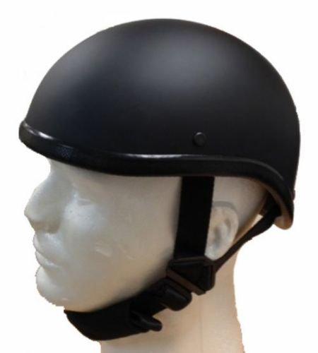 Gladiator Half Novelty Harley Motorcycle Helmet Skull Cap Flat Black Skid Lid L BLACK