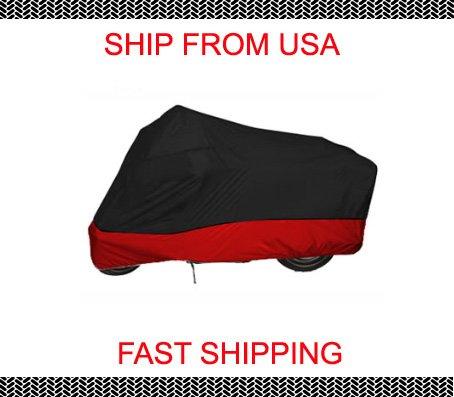 Red Black XL KAWASAKI Vulcan 500 Custom Motorcycle Cover