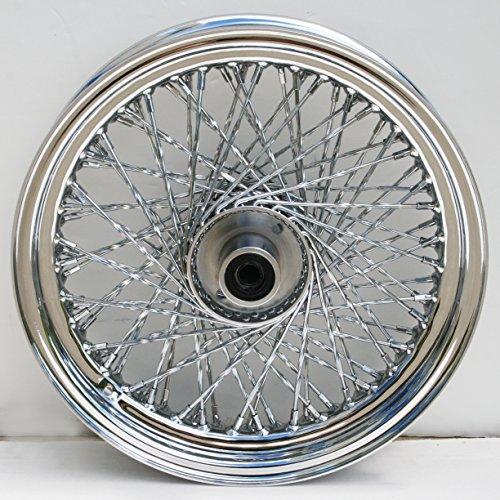 ULTIMA Ulitma 80 Twisted Spoke Front Chrome Wheel for pre 99 Harley FXSTFXDWG 36-349