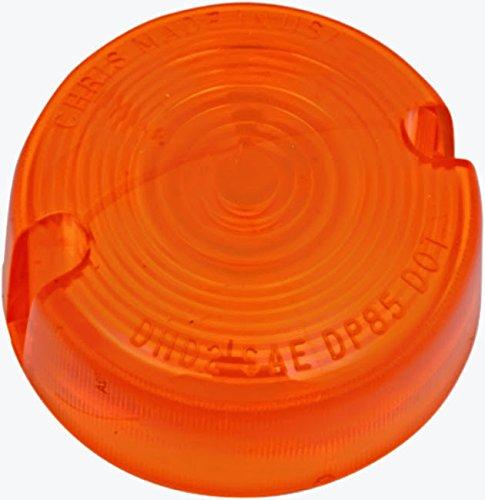 Amber Turn Signal Lens Harley Softail Custom - FXSTC 1986-99 repl OEM 68457-86
