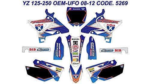 DOG RACING DESIGN 5269 YAMAHA YZ 125-250 OEM-UFO 2008-2012 GRAPHIC KIT
