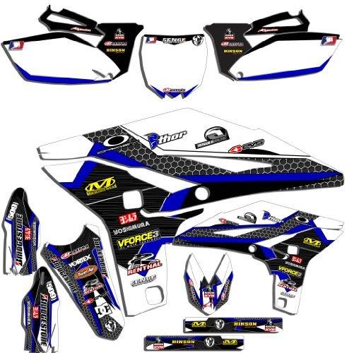 Senge Graphics 2008-2009 Yamaha YZ 250450F 4-Stroke Podium WhiteBlue Graphics Kit