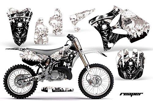 Yamaha YZ 250 2 Stroke Motocross Graphic Kit 2008 - Reaper White - AMR Racing