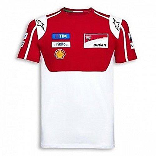 Ducati Moto GP Team 17 Replica Short Sleeve T-Shirt Red White Medium