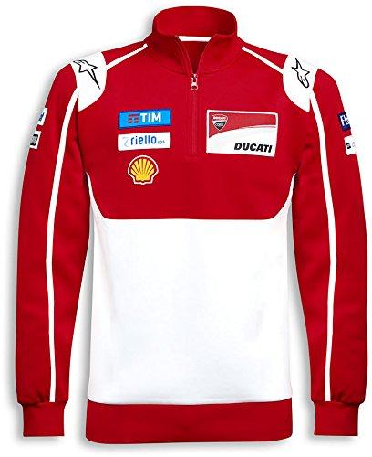 Ducati Moto GP Team 2017 Replica 14 Zip Sweatshirt Red White Large