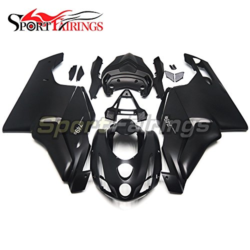 Sportfairings Complete Injection ABS Plastic Fairing Kits For Ducati 999 749 Monoposto 2003 2004 Motorcycle Matte Black Cowlings
