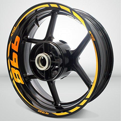 Fluorescent Orange Motorcycle Rim Wheel Decal Accessory Sticker for Ducati 998