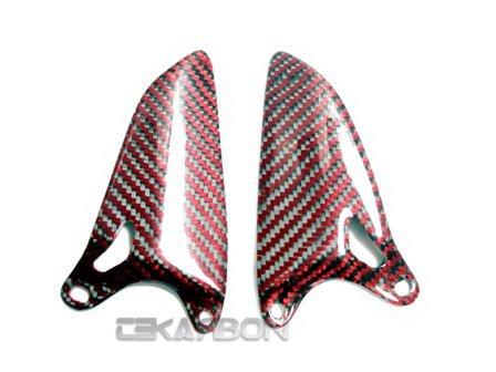 2007 - 2012 Ducati 1198 1098 848 Carbon Fiber Heel Guard - Red