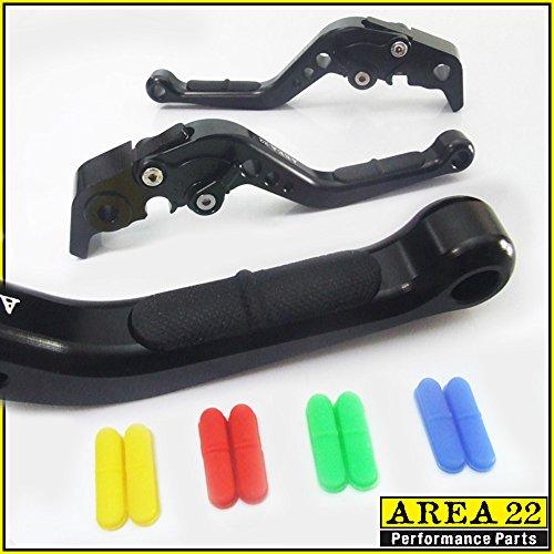 AREA 22 ANTI-SLIP BLACK ADJUSTABLE LEVERS FOR Ducati 695 MONSTER 2007-2008 or MONSTER S2R 800 2005-2007 or ST4S 2003