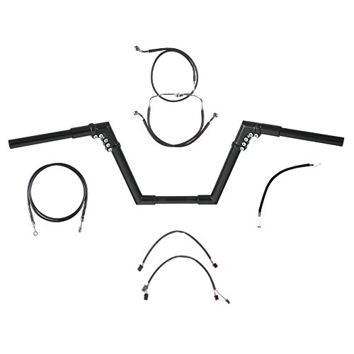 Hill Country Customs 1 14 BBlack 10 Ness Modular Ape Handlebar Kit for 2017 and Newer Harley Road King models without ABS brakes - BC-0601-1936-RK17B
