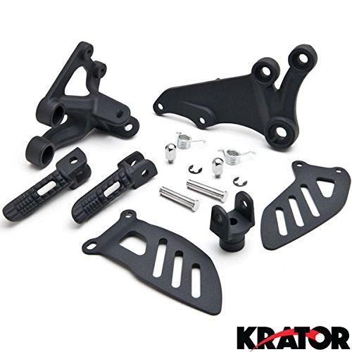 KratorSuzuki GSXR 600 2006-2010  GSXR 750 2006-2008 Front Foot Rests Assembly Kit Frame Fitting Stay Footrests Step Bracket Assembly