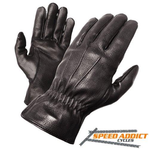 Olympia 140 Deerskin I Classic Motorcycle Gloves (black, Medium)
