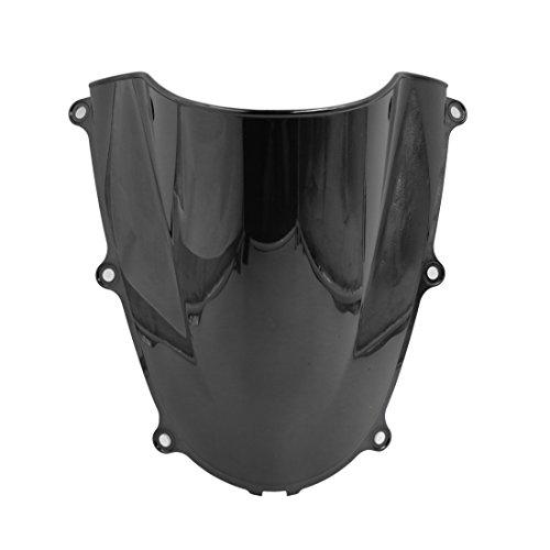 uxcell Black Plastic Motorcycle Motorbike Windshield Windscreen for Honda CBR600RR 2005-2006