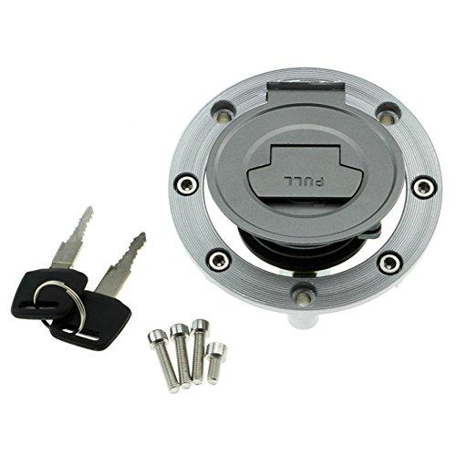 Alpha Rider Motorbike Fuel Gas Tank Cap Cover Locks and Keys Kit for Yamaha FZ1N FZ1S 2006-2009 YZF R1 2002-2011 YZF R6 2003-2010