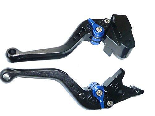 LUO CNC Short Brake Clutch Levers for Yamaha YZF R1 2002-2003YZF R6 1999-2004FZ1 Fazer 2001-2005R6S Canada Version 2007-2009R6S USA Version 2006-2009FZS1000 2001-2005-Black