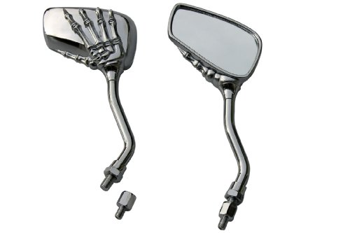 CHROME SKULL HAND SKELLINGTON REARVIEW MOTORCYCLE MIRRORS FOR 1998 Honda Shadow Aero 1100 VT1100C3L