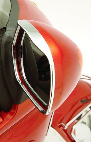 Show Chrome MIRROR VISOR TRIM CHR ABS Dressup Visored Mirror Trim CHR HONDA GL1800 01-10 - 52-683