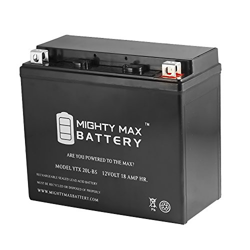 YTX20L-BS Replacement Battery for Honda 1800 CC GL1800 Gold Wing 01-09 - Mighty Max Battery brand product