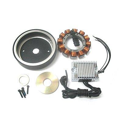 WILD RIDER Performance 32 Amp Charging System Kit for Harley 70-99 Big Twin Evo Shovelhead