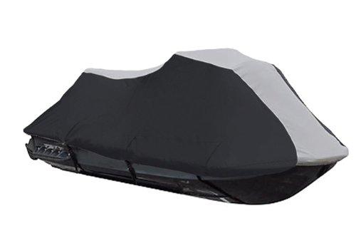 600 Denier Jet Ski PWC Cover fits Kawasaki Ultra 150 DI 1999-2005 Black  Grey 2 Seater