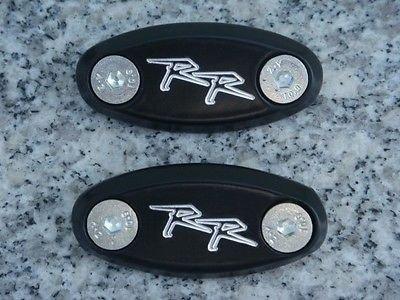 i5 Black Mirror Block Off Plates for Honda CBR 600 F4 F4i 929 954 1000 RR