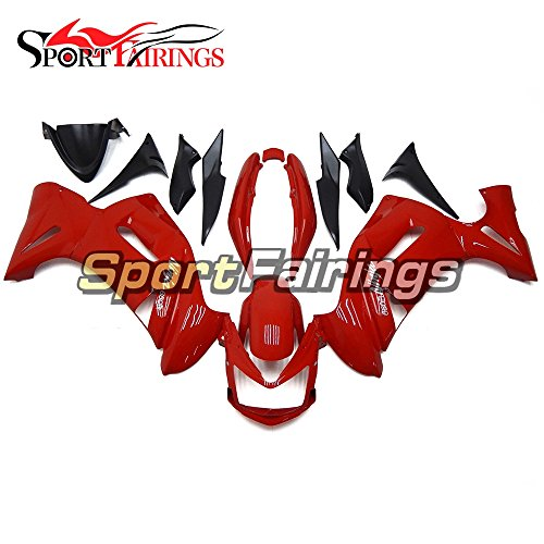 Sportfairings Plastic ABS Fairing kits For Kawasaki Ninja 650R ER-6F Year 2006 2007 2008 Full Covers Red Black Motorbike Cowling