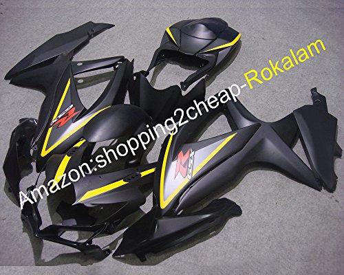 Hot SalesFor Suzuki GSX-R600 R750 08 09 10 GSXR 600 750 2008 2009 2010 K8 Black Fairings of Motorcycle Injection molding