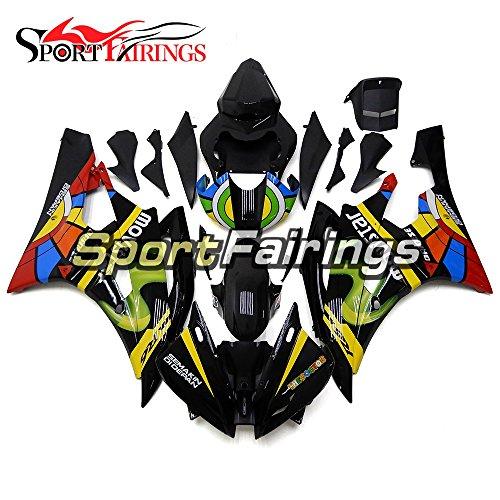 Sportfairings ABS Fairing Kits For Yamaha YZF R6 2006 2007 Year 06 07 Colorful Black Fairings Motorcycle Body Kits