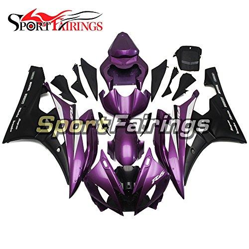 Sportfairings ABS Fairing Kits For Yamaha YZF R6 2006 2007 Year 06 07 Purple Black Fairings Motorcycle Body Kits
