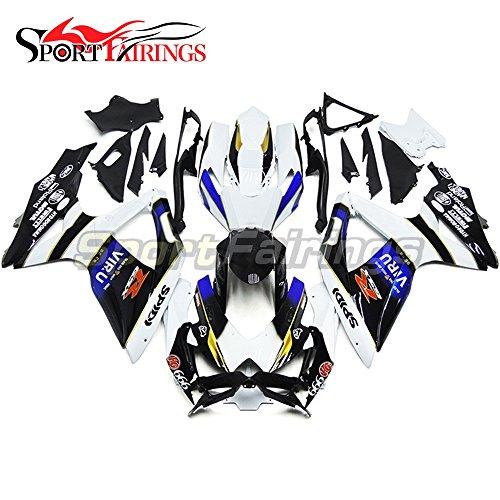 Sportfairings Complete Injection Fairing Kit For Suzuki GSX-R750 GSX-R600 GSXR 600 750 Year 2008 2009 2010 K8 Fairings Motorbike Black White Blue