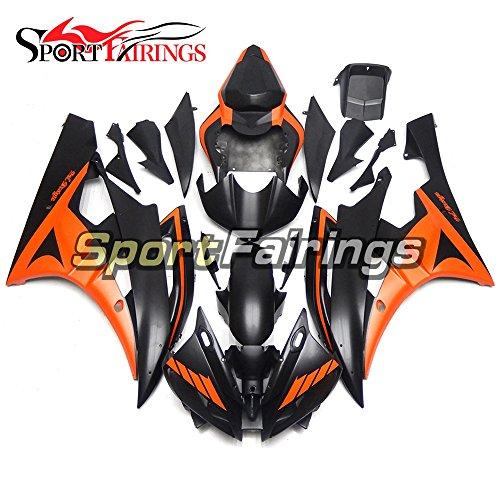 Sportfairings Fairing Kits For Yamaha YZF R6 2006 2007 Year 06 07 Fairings Motorcycle Body Kits ABS Plastic Matte Black Orange Covers