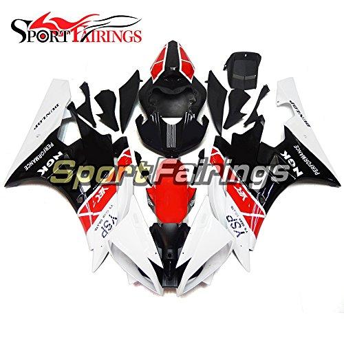 Sportfairings Red White Fairing Kits For Yamaha YZF R6 2006 2007 Year 06 07 Fairings Motorcycle Body Kits ABS Plastic Bodywork